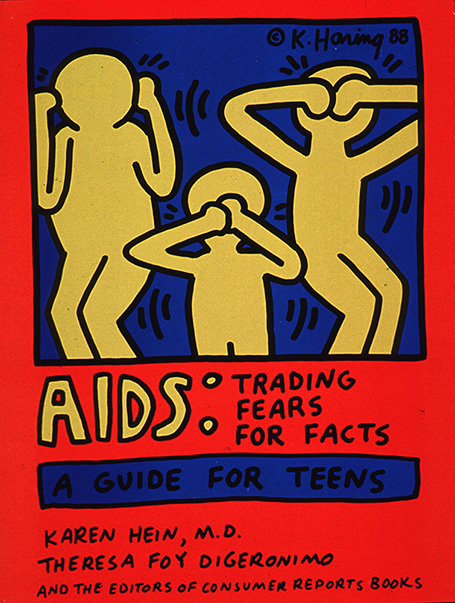 AIDS Trading Fears for Facts A Guide for Teens 1989 Keith Haring