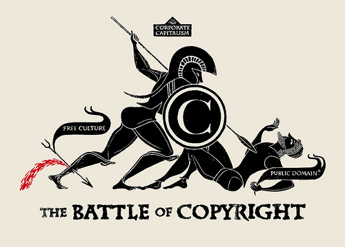 The Battle of Copyright, image by Christopher Dombres. taken on June 9, 2011.